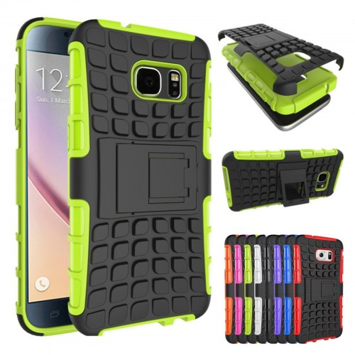 Custodia Cover case hybrid con chevalet per Samsung Galaxy S7 Edge G935 + film