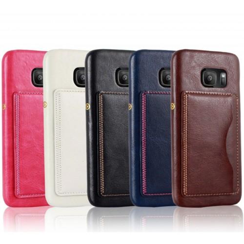 Custodia Cover case in cuoio con slot card per Samsung Galaxy S7 G930 G9300