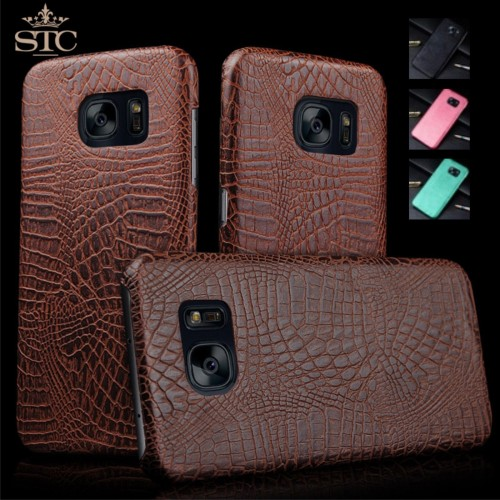 Custodia Cover case in pelle di coccodrillo per Samsung Galaxy S7 & Edge + film
