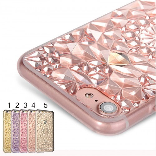 Custodia Cover case in silicone bling brillante per Apple IPhone 5 6 7 8 Plus