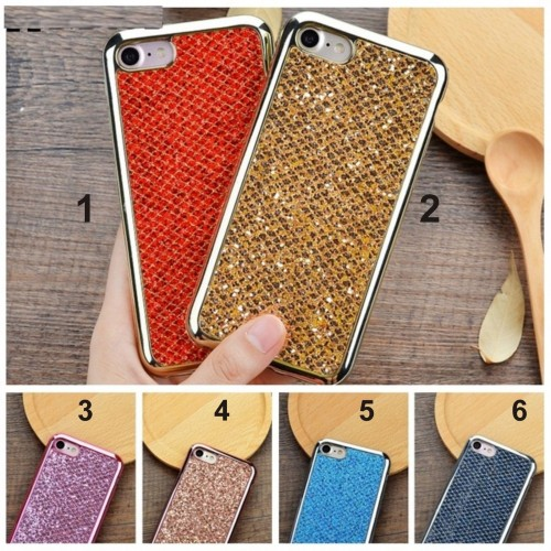 Custodia Cover case in silicone bling brillante per Apple IPhone 5 6 7 8 Plus X