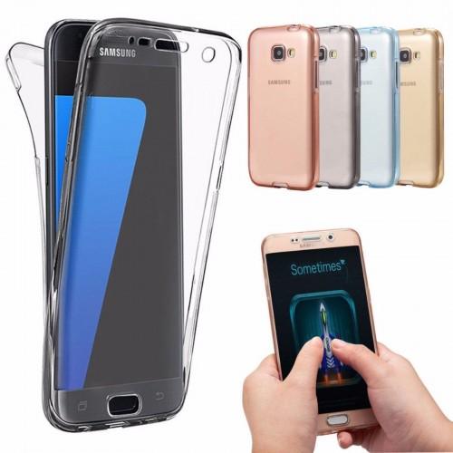 Custodia Cover case in silicone copertura a 360° per Samsung Galaxy S8 & S8 Plus