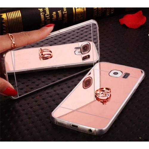 Custodia Cover case in silicone retro effetto specchio per Samsung Galaxy S6