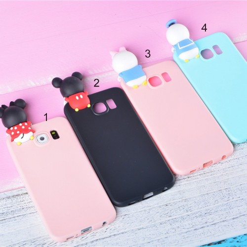 Custodia Cover case mickey minnie per Samsung A3 A5 A7 2016 2017 S6 S7 S8+ Edge