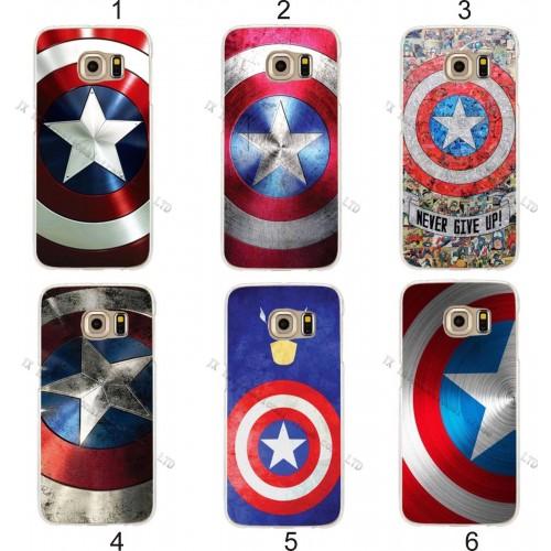 Custodia Cover case plastica captain america per Samsung Galaxy S3 S4 S5 S6 S7