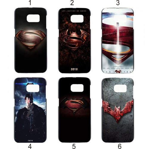 Custodia Cover case plastica super man eroi per Samsung Galaxy S3 S4 S5 S6 S7