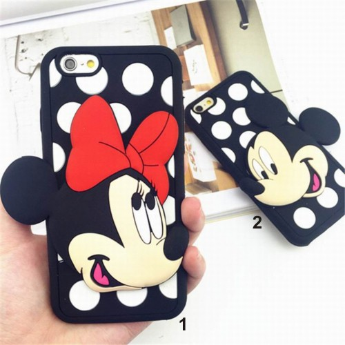 Custodia Cover case silicon minnie mickey 3D per modelli Samsung Galaxy & IPhone