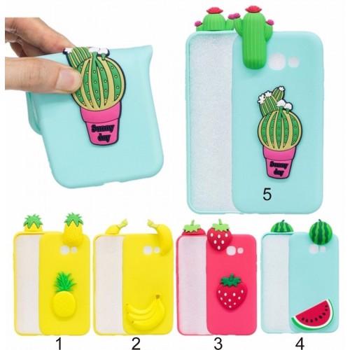 Custodia Cover case silicone 3D frutta tropicale Samsung Galaxy  A3 A5 A7 2017