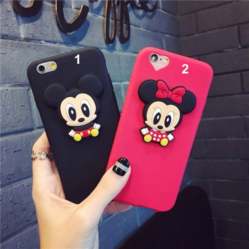 Custodia Cover case silicone 3D minnie mickey per Apple IPhone 5 6 7 8 Plus