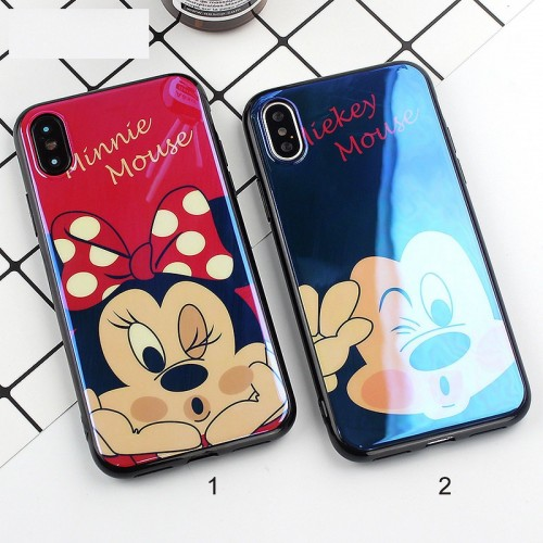 Custodia Cover case silicone 3D minnie mickey topo per Apple IPhone 6 7 8 Plus