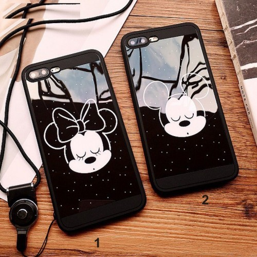 Custodia Cover case silicone 3D minnie topolino per Apple IPhone 6 7 8 Plus X