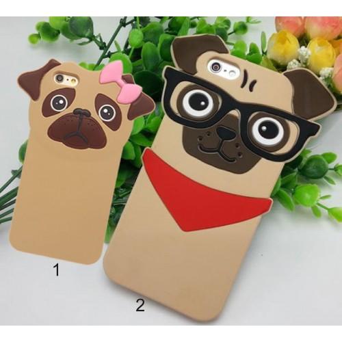 Custodia Cover case silicone 3D sharpei dog per Apple IPhone 5 SE 6 7 8 Plus X