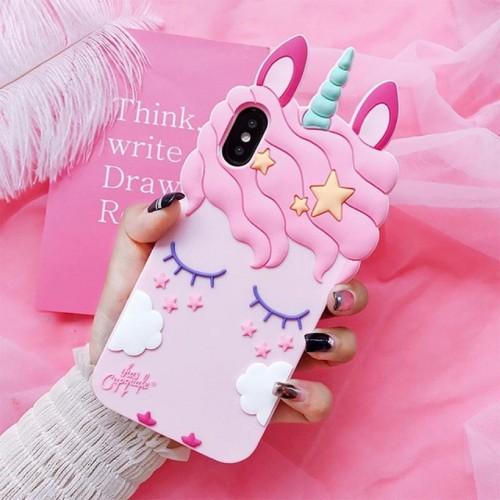 Custodia Cover case silicone 3D unicorno soft per Samsung Galaxy J3 J5 J7 prime
