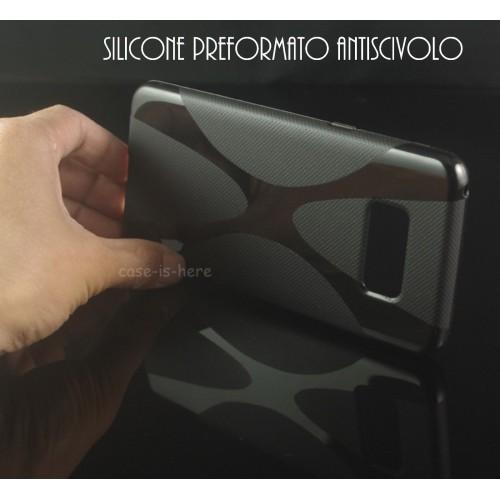 Custodia Cover case silicone PREFORMATO parabordi per Samsung Galaxy S8 & Plus
