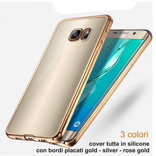 Custodia Cover case silicone bordi placcati per Samsung Galaxy S7 & Edge +film