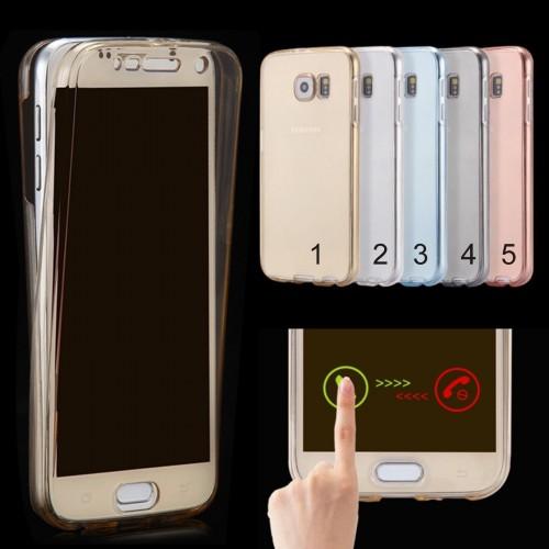 Custodia Cover case silicone copertura a 360° per Samsung Galaxy S3 S4 S5 S6 S7