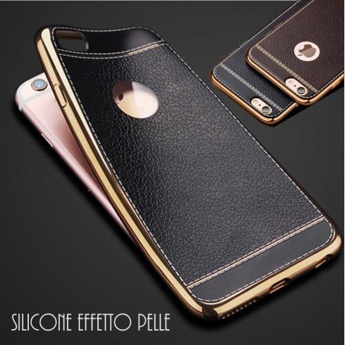 Custodia Cover case silicone effetto pelle per Apple IPhone 5 SE 6 7 8 Plus X