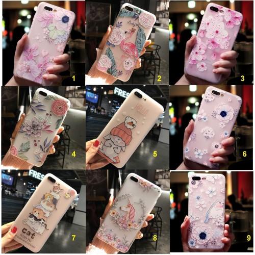 Custodia Cover case silicone fiori coniglio cat per Samsung J3 J5 J7 2016 2017