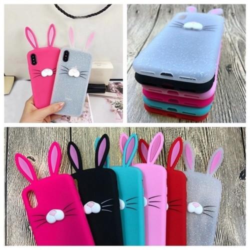 Custodia Cover case silicone orecchie coniglio per Apple IPhone 5 ...
