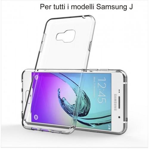 Custodia Cover case silicone preformato antiscivolo per modelli Samsung Galaxy J