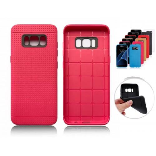 Custodia Cover case silicone preformato antiurto per Samsung Galaxy S8 & S8 Plus