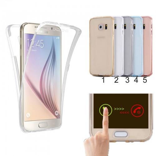 Custodia Cover case silicone protezione a 360° per Samsung Galaxy S6 Edge & Plus