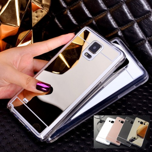 Custodia Cover case silicone retro specchio per Samsung Galaxy S6 Edge & Plus