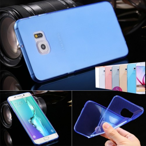 Custodia Cover case silicone tpu 0.4 mm per Samsung Galaxy S7 edge G935 + film