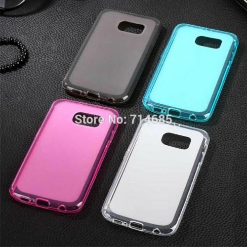 Custodia Cover case silicone tpu 0.5 mm per Samsung Galaxy S7 Edge G935 + film