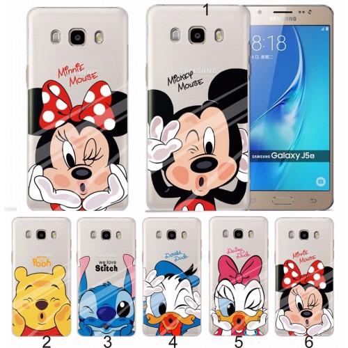 Custodia Cover case stitch minnie mickey per Samsung Galaxy J3 J5 J7 2016 2017