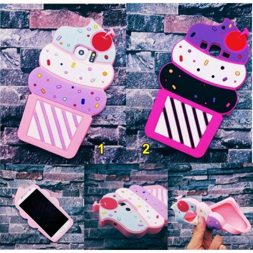 Custodia Cover case tpu cupcakes gelato 3D Samsung Galaxy S3 S4 S5 S6 S7 & Edge