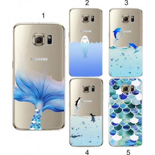 Custodia Cover case tpu penguini per Samsung Galaxy S3 S4 S5 S6 S7 S8 edge Plus