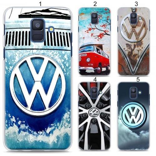 Custodia Cover case volkswagen duro per Samsung Galaxy A5 A6 A7 A8 J4 J6 J8 2018