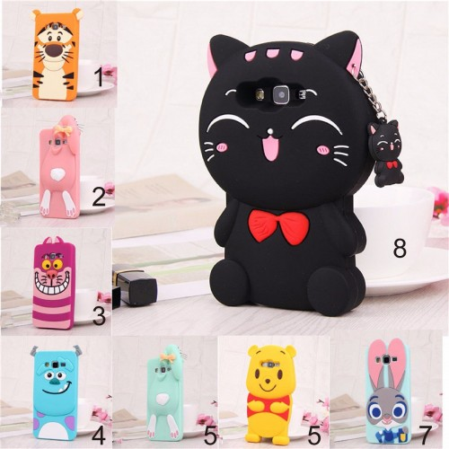 Custodia Cover cat tiger sulley bear Pooh per Samsung J1 J2 J3 J5 J7 prime 2016