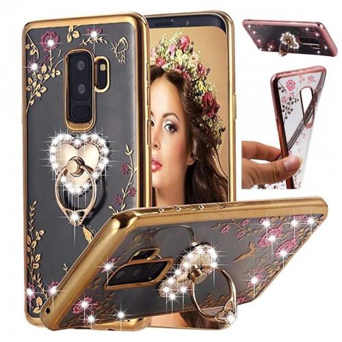 Custodia Cover con strass per Samsung Galaxy A5 A7 A8 J2 pro J3 J4 J6 J8 2018