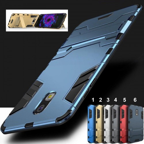 Custodia Cover con supporto ironman per Samsung Galaxy S6 S7 edge S8 S9 Plus