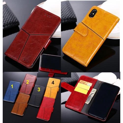 Custodia Cover cuoio con slot card per Samsung Galaxy J3 J5 J7 J2 pro J4 J6 J8