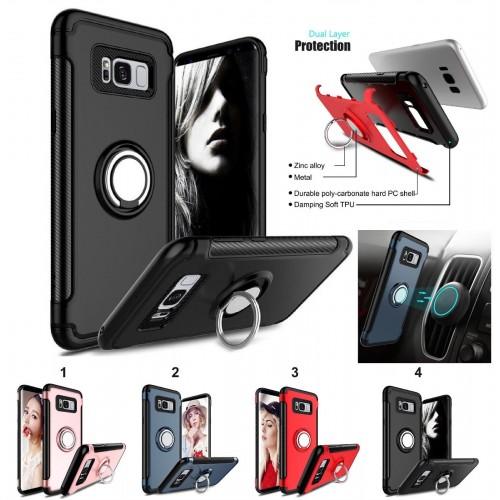 Custodia Cover gancio magnetico per Samsung Galaxy S4 S5 S6 S7 edge S8 S9 Plus