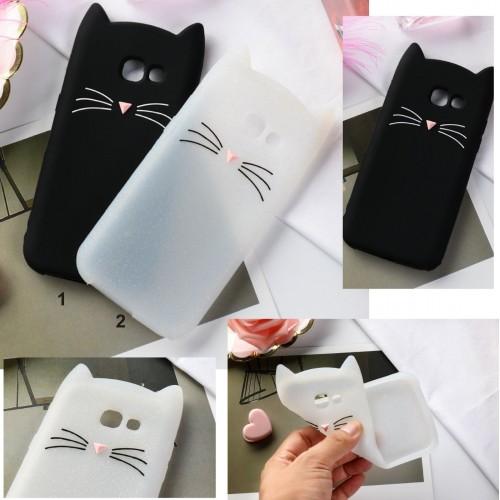 Custodia Cover gatto orecchie 3d per Samsung Galaxy J3 J5 J7 J2 pro J4 J6 J8