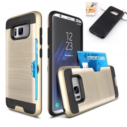 Custodia Cover hybrid antiurto con slot card per Samsung Galaxy note 3 4 5 8 9