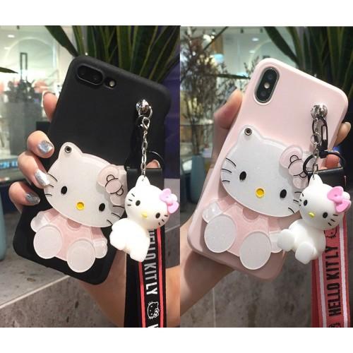 Custodia Cover in silicone gatto kitty 3D per Samsung Galaxy A6 A8 A9 star lite