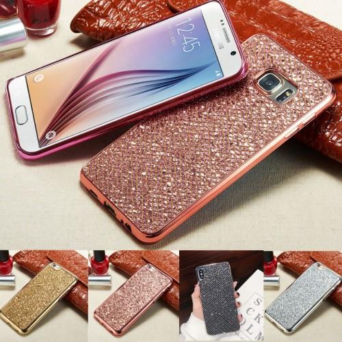 Custodia Cover in silicone glitter per Samsung Galaxy J3 J5 J7 J2 pro J4 J6 J8