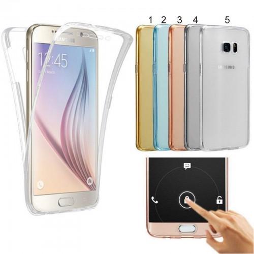 Custodia Cover in silicone protezione a 360° per Samsung Galaxy J2 J4 J6 J8 2018