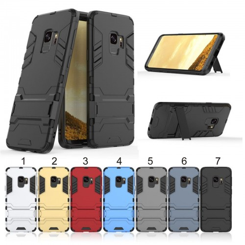 Custodia Cover iron man hybrid per Samsung Galaxy S4 S5 S6 S7 edge S8 S9 Plus