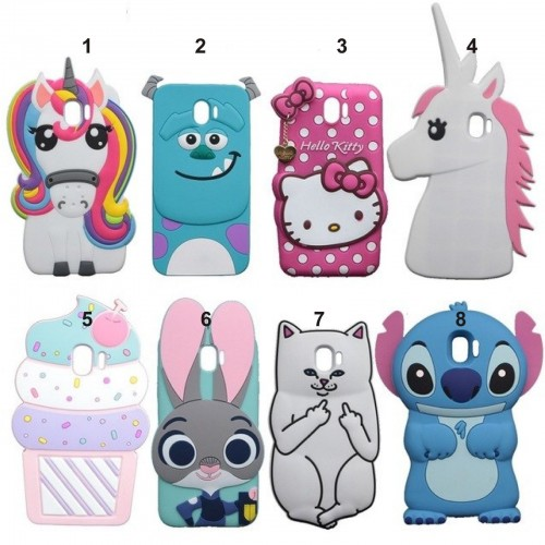 Custodia Cover kitty stitch sulley unicorno per Samsung Galaxy J2 J4 J6 J8 2018
