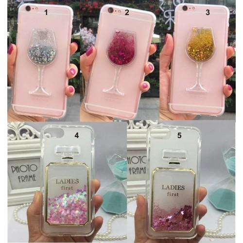 Custodia Cover liquido & glitter per Samsung Galaxy J2 J3 J4 J5 J6 J7 J8 prime