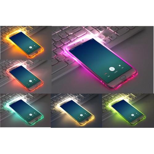 Custodia Cover luminosa led flash per Samsung Galaxy J1 J3 J5 J7 A3 A5 A7 Prime
