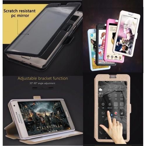 Custodia Cover magnetica window per Samsung Galaxy J3 J5 J7 J2 pro J4 J6 J8