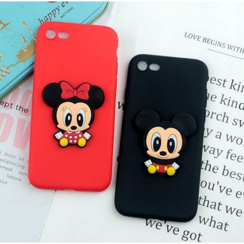 Custodia Cover minnie mickey soft per Samsung Galaxy J2 J3 J4 J5 J6 J7 J8 prime