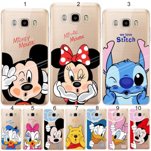 Custodia Cover minnie mickey stitch per Samsung Galaxy J2 J3 J4 J6 J7 J8 2018
